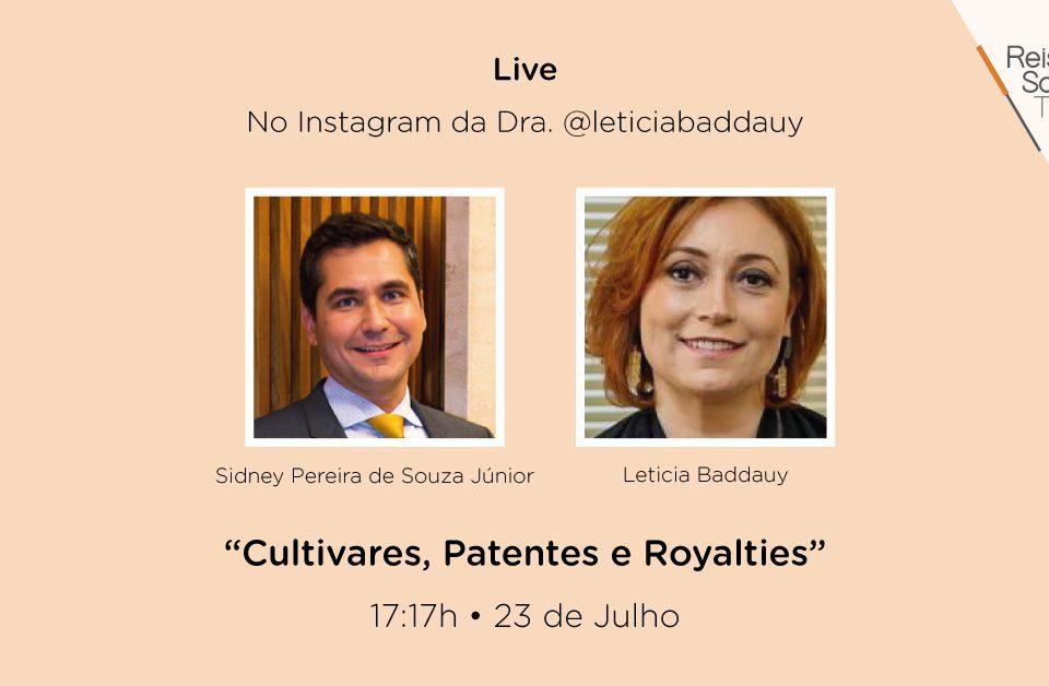 (Live) Cultivares, patentes e royalties - Reis, Souza, Takeishi & Arsuffi